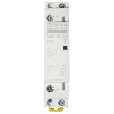 Модульний контактор MK-N 1P 25A 1NO 220V