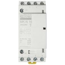 Модульний контактор MK-N 4P 16A 2NO2NC 220V