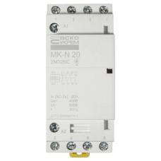 Модульний контактор MK-N 4P 20A 2NO2NC 220V