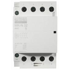 Модульний контактор MK-N 4P 32A 4NO 220V