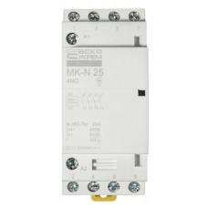 Модульний контактор MK-N 4P 25A 4NO 220V