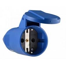 Розетка (гніздо) переносна ГП 16А/2 (220В) 2Р+РЕ (212)  Синя