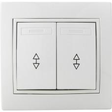 Вимикач 2-кл. прохідний ВВпсб10-2-0-Fl-W (білий)