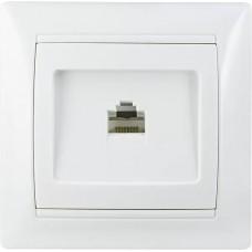 Розетка комп'ютерна РВcom-1-Fr-W