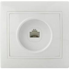 Розетка комп'ютерна РВcomсб-1-Fl-W (біла)