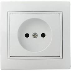 Розетка 2Р  PBсб16-Fl-W (біла)