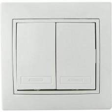 Вимикач 2-кл. BBсб10-2-0-Fl-W (білий)