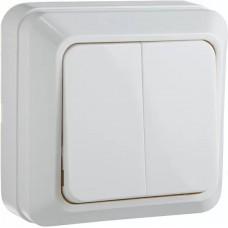 Вимикач 2-кл.  BЗ10-2-0-Ct-W  (білий)