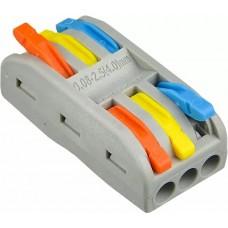 Клема з'єднувальна універсальна PCT-2-3-С (кольорова)