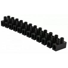 """Клемна колодка  """"тип Н"""" 10 мм2 / 10А чорна"""