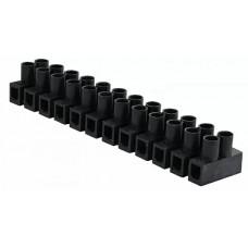 """Клемна колодка  """"тип Н"""" 2,5-4 мм2 / 3А чорна"""