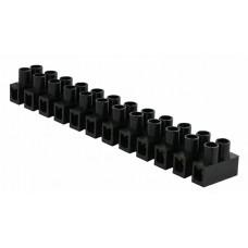 """Клемна колодка  """"тип Н"""" 6 мм2 / 6А чорна"""