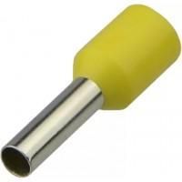 Наконечники трубчаті НТ 0,5-08 жовті (100 шт.)