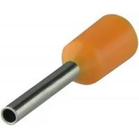Наконечники трубчаті НТ 0,5-08 помаранчеві (100 шт.)