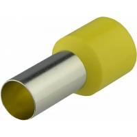 Наконечники трубчаті НТ 35,0-16 жовті (100 шт.)