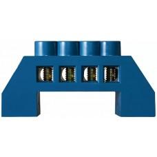 Нульова шина в пластиковому корпусі BC-6A 4 отв. (6*9)