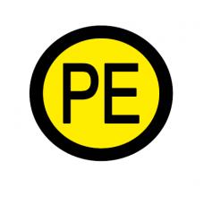 """Знак """"захисне заземлення"""" PE (на аркуші 297 шт)"""