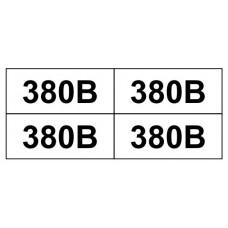 """Знак """"380В"""" 17х10 (на аркуші 693 шт)"""