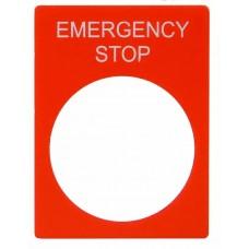 Табличка маркировочная STOP красная для кнопок XB2