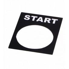 Табличка маркировочная START черная для кнопок XB2