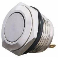 TY 16-211P Pcb Кнопка металева пласка, (з'єднання під пайку), 1NO.