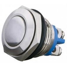 TY 16-231A Scr Кнопка металлическая выпуклая, (винтовое соединение), 1NO.