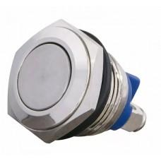 TY 16-211A Scr  Кнопка металева пласка, (гвинтове з'єднання), 1NO.