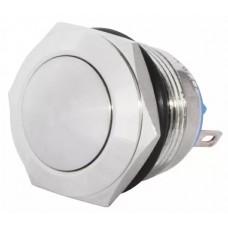 TY 19-231P Pcb  Кнопка металева опукла, (з'єднання під пайку), 1NO.