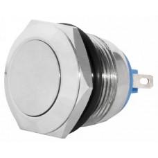 TY 19-211P Pcb  Кнопка металева пласка, (з'єднання під пайку), 1NO.