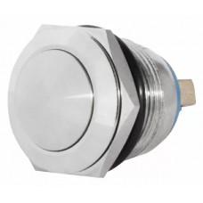 TY 19-231A Scr  Кнопка металева опукла, (гвинтове з'єднання), 1NO.