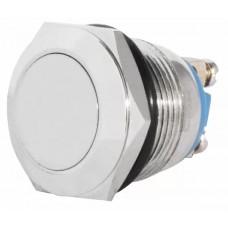 TY 19-211A Scr Кнопка металлическая плоская, (винтовое соединение), 1NO.