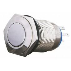 TYJ 16-312 Кнопка металева пласка з фікс., 2NO+2NC.