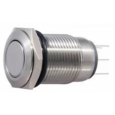 TYJ 16-212  Кнопка металева пласка, 2NO+2NC.