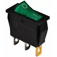 KCD3-101N GR / B 220V Переключатель 1 кл. зеленый с подсветкой