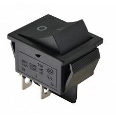 KCD2-211 B/B Перемикач 1 клав. чорний без фіксації
