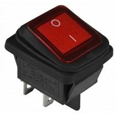 KCD2-201NW R/B 220V Перемикач 1 клав. вологозах. червоний з підсвічуванням