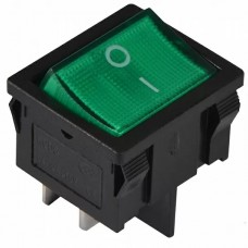 KCD1-6-201N GR/B 220V Переключатель 1 кл. зеленый с подсветкой