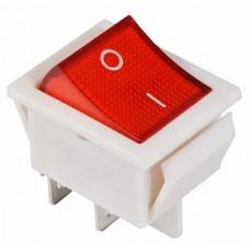 KCD2-201N R/WH 220V Переключатель 1 кл. красный с подсветкой