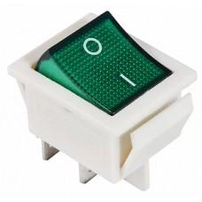 KCD2-201N GR/WH 220V Переключатель 1 кл. зеленый с подсветкой
