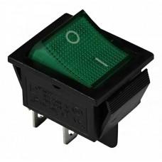 KCD2-201N GR/B 220V Переключатель 1 кл. зеленый с подсветкой