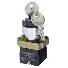 XB2-BG03 Кнопка поворотная с ключом 3-позиционная