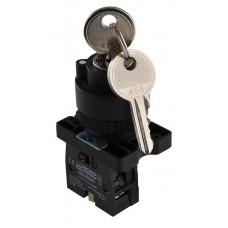 LAY5-EG21  Кнопка поворотна з ключем 2-о позиційна