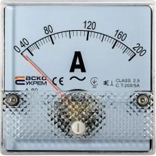 AС Амперметр 200/5А 80х80 модель А-80