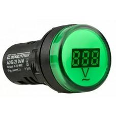 Цифровий вимірювач напруги AD22-22DVM AC 80-500В (зелений)