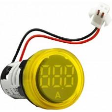 Круглий цифровий вимірювач струму ED16-22AD 0-100A (жовтий)