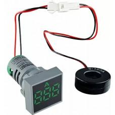 Квадратний цифровий вимірювач струму ED16-22FAD 0-100A (зелений)