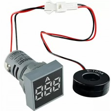 Квадратний цифровий вимірювач струму ED16-22FAD 0-100A (білий)