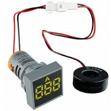 Квадратний цифровий вимірювач струму ED16-22FAD 0-100A (жовтий)