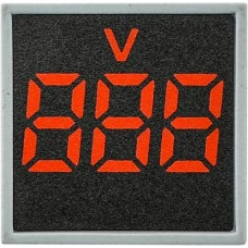 Квадратний цифровий вимірювач напруги ED16-22FVD 30-500В АС (червоний)