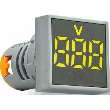 Квадратний цифровий вимірювач напруги ED16-22FVD 30-500В АС (жовтий)